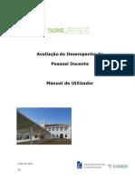 Manual de Utilizador - Avaliação do Desempenho do Pessoal Docente