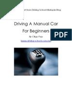 Driving Manual Car for Beginners
