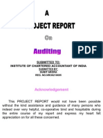 Project on Auditing