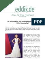 Ein Traum von einem Kleid und ein Bräutigam aus dem Online-Hochzeitsshop