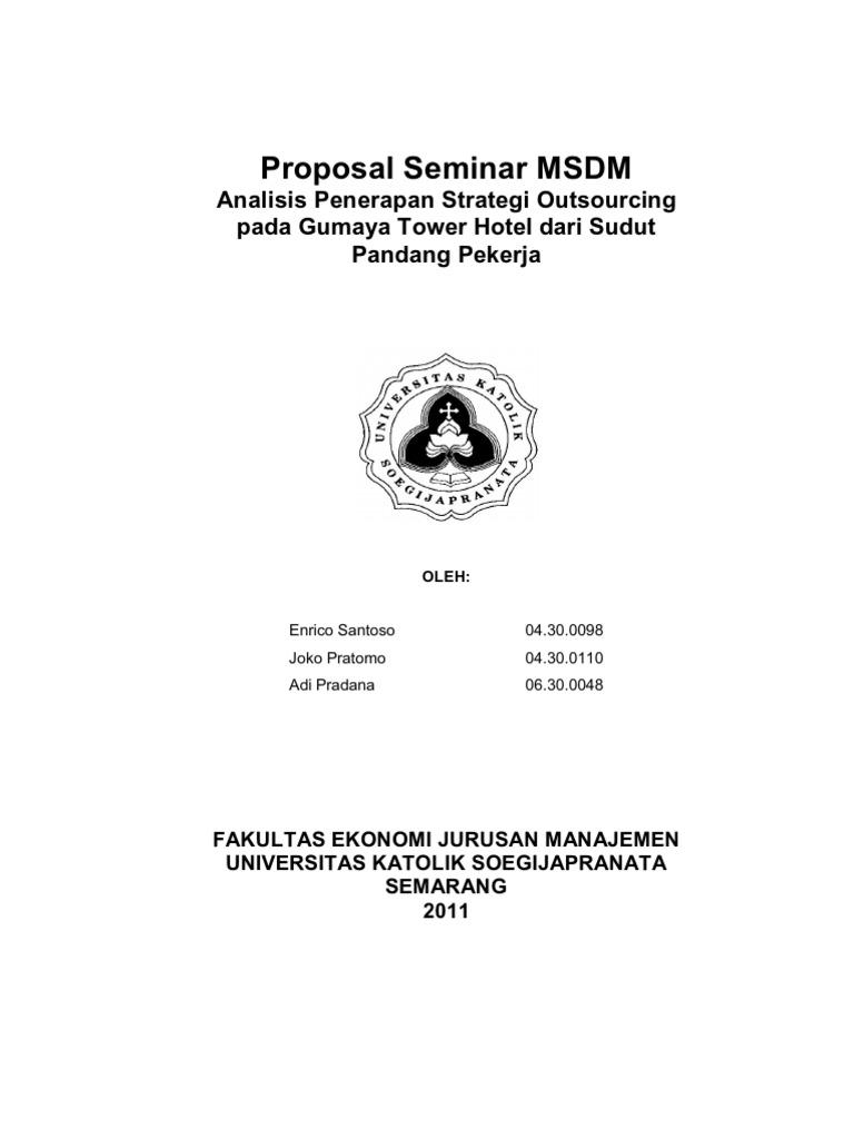 Contoh Proposal Penelitian Manajemen Sdm Download Pdf