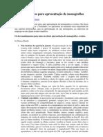 10 mandamentos para apresentação de monografias pdf