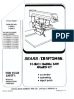 Craftsman Radial Arm Saw Manual