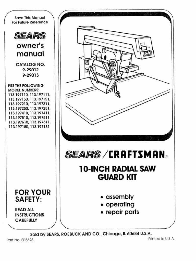 Craftsman Radial Arm Saw Wiring Diagram Free Picture Explained Compound Miter Data Manual Knife
