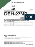 Pioneer Deh-2770mp Service Manual Manual de Servicio
