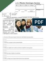 Ficha de avaliação factores de identidade das populações