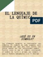Lenguaje de La Quimica
