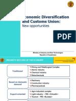 Kazakhstan Economic Diversification and Customs Union