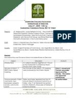 DOA Board Meeting April 21, 2009 Minutes