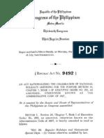 Ra 9492 Holiday Law