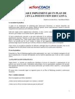 Action Coach Plan de Marketing Instituciones Educativas