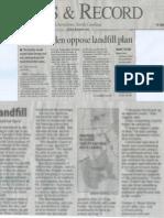 Greensboro News and Record story on Dan River Landfill June 16, 2011