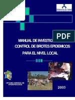 Manual de Investigacion y Control de Brotes Epidemicos OGE