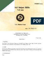US Marine Corps FMFRP 0-11A - M40A1 Sniper Rifle - April 1989