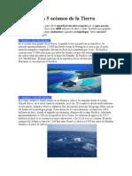 Los 5 océanos de la Tierra