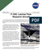 NASA Facts F-16XL Laminar Flow Research Aircraft