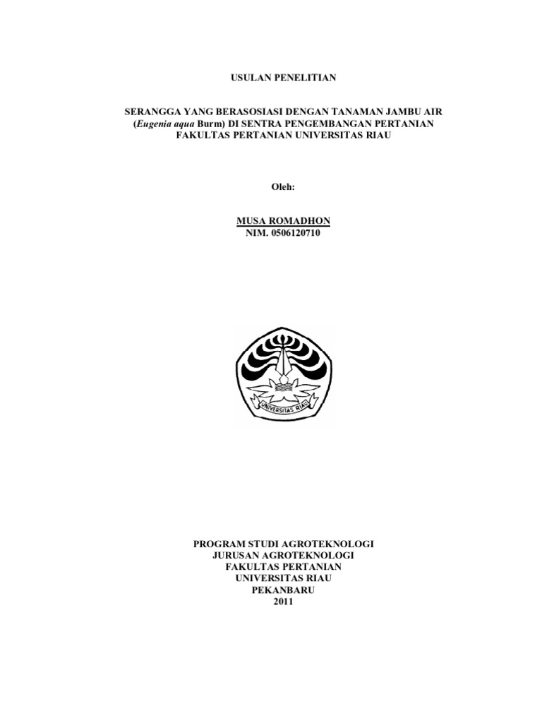Contoh Proposal Penelitian Pertanian Agribisnis Pdf Berbagi Contoh Proposal