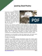 Composting Dead Poultry