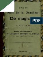 Ott. Ueber die Schrift des hl. Augustinus