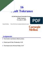 16 Fault Tolerance