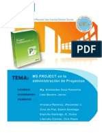 MS Project en La Admin is Trac Ion de Proyectos