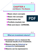 CHAPTER 4 Risk and Return the Basics