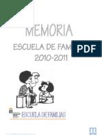 MEMORIA Escuela Familias 2010-2011-