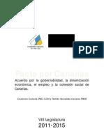 Acuerdo por la gobernabilidad, la dinamización económica, el empleo y la cohesión social de Canarias