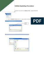 HDMF D2Disk Updating Procedure