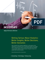 Accenture Getting Serious About Analytics