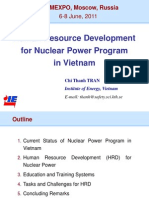 Human Resource Development for Nuclear Power Program in Vietnam