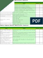 Network Checklist Ver 2