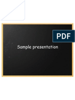 Ammar Naeem Bhatti - Sample Presentation