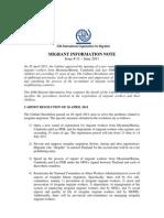 Thailand-IOM-Migrant Info Note No 11(en)