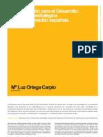 La Educación para el Desarrollo dimension estratégica de la Cooperación Española