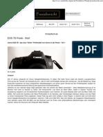 Erfahrungsbericht EOS 7D