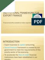 Institutional Framework for Export Finance