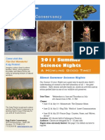 2011 Summer Science Nights Flyer