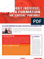 "Le droit individuel, un ""capital"" portable à la formation"