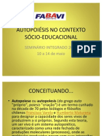 AUTOPOIÉSIS NO CONTEXTO SÓCIO-EDUCACIONAL