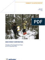Sino-Forest Purchased Forest Valuation