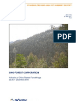 Sino-Forest Planted Forest Valuation