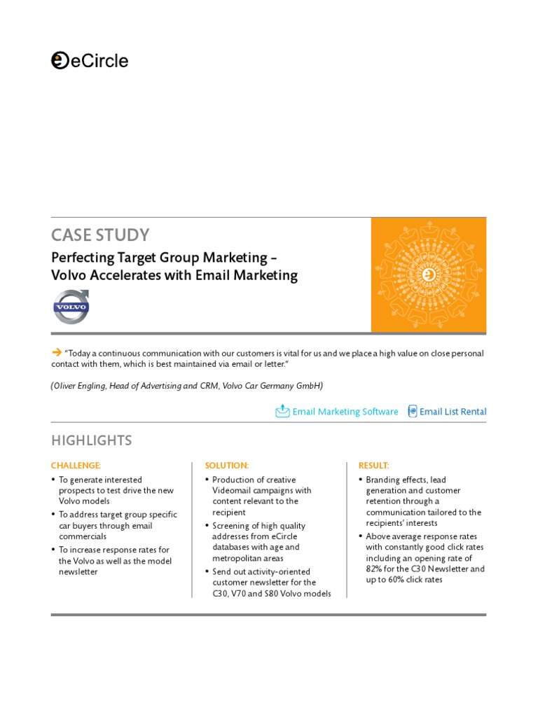 volvia case study Find all the marketing case study templates, examples, and how-to writing information you need to make the next one you write a smashing success.