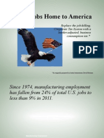 Bring Jobs Home to America - Presentation 062111