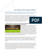 The Manifesto for Change in Non League Football