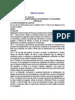 Reglamentos de Arreglos y Procesos Judiciales