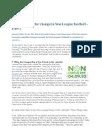 The Manifesto for Change in Non League Footballpt3