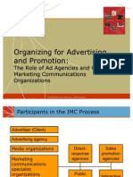 Organizing for Advertising and Promotion