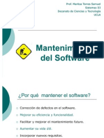Clase Mantenimiento Software