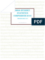 India Internet Statistics eStatsIndia Com Compendium August 2010